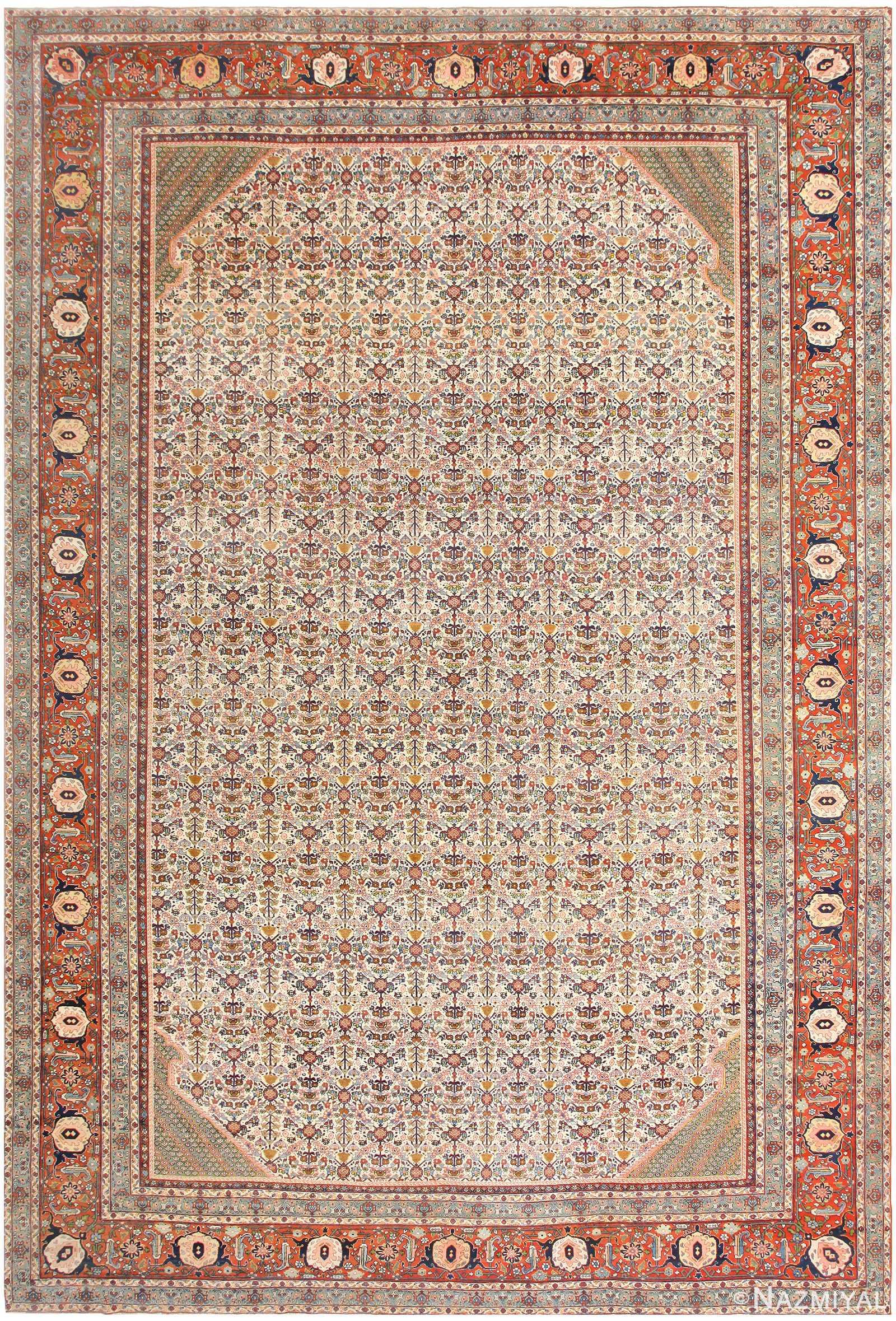 Large Antique Persian Tabriz Rug 48729