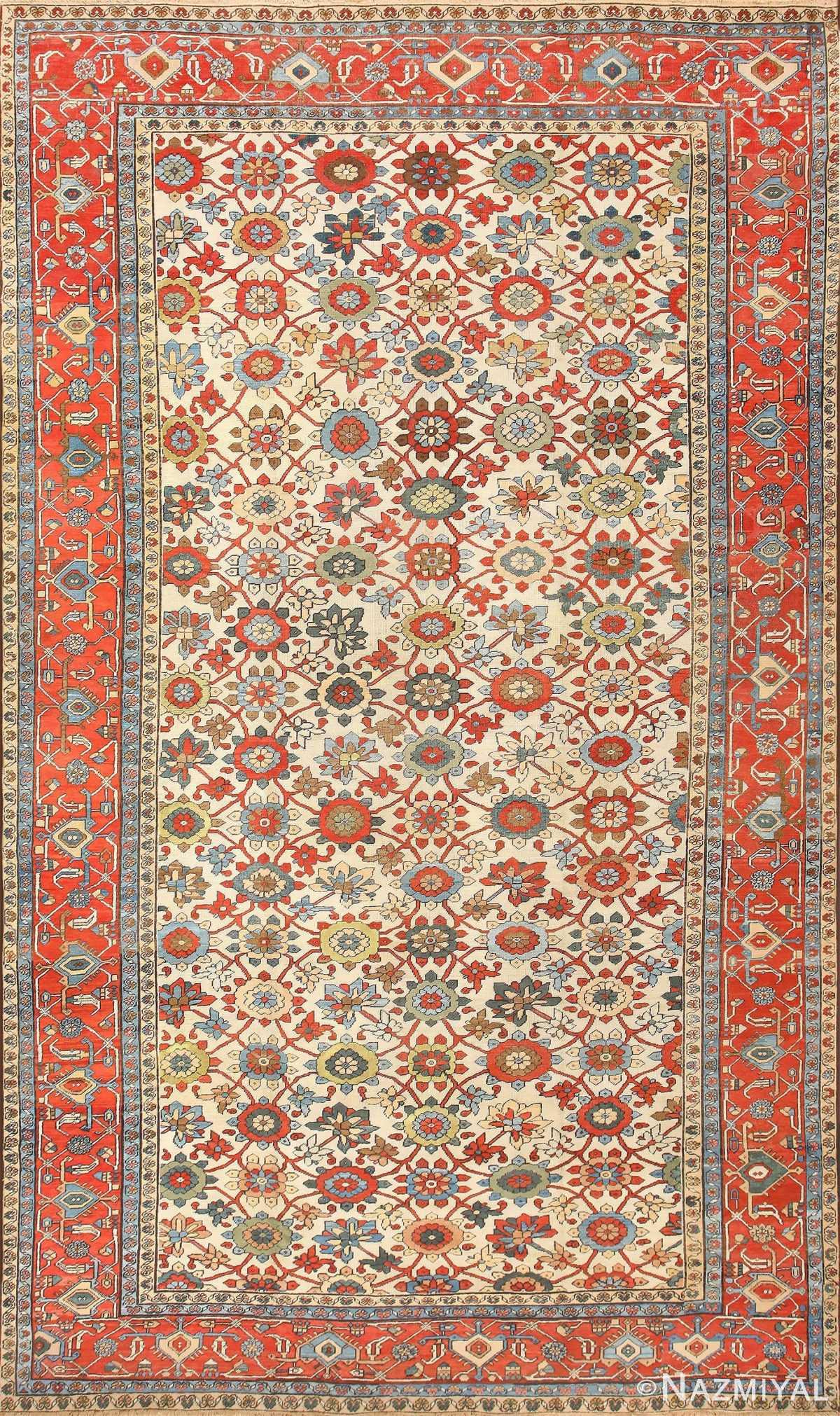 Large Colorful Antique Persian Serapi Rug 50593 Nazmiyal