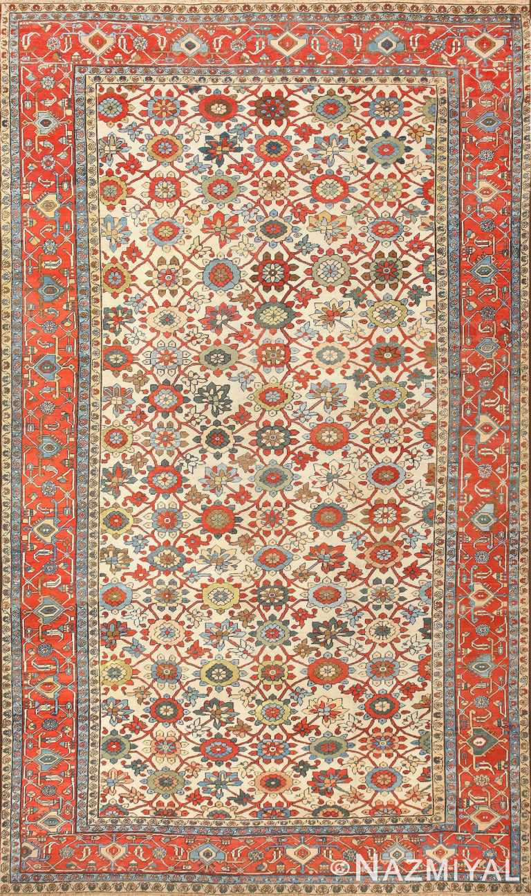 Large Colorful Antique Persian Serapi Rug 50593 Nazmiyal