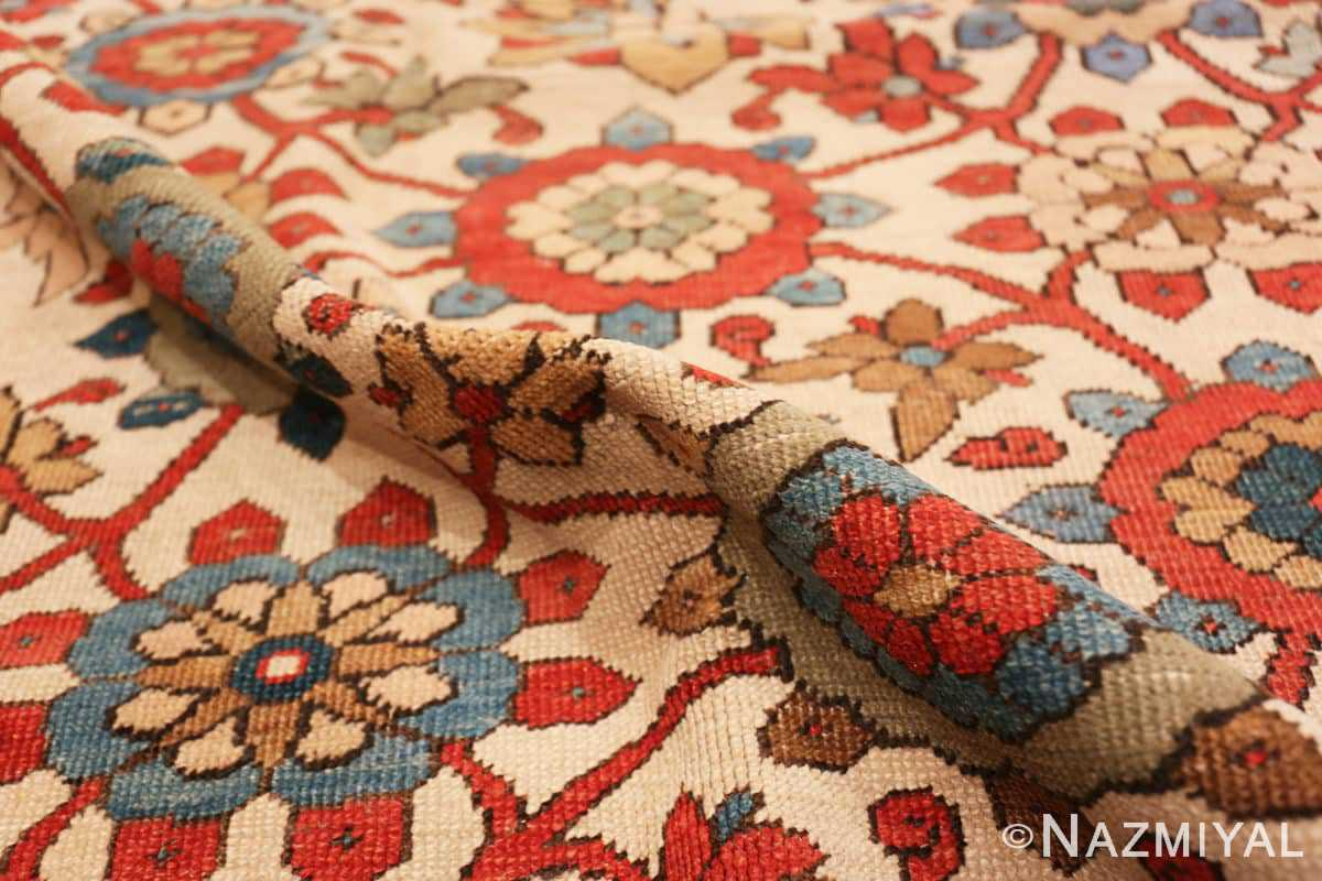 Pile Large colorful Antique Persian Serapi rug 50593 by Nazmiyal