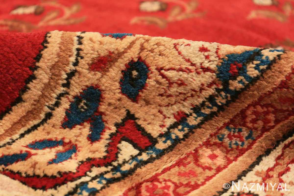 Pile Red medallion Antique Irish rug 50481 by Nazmiyal Antique Rugs in NYC