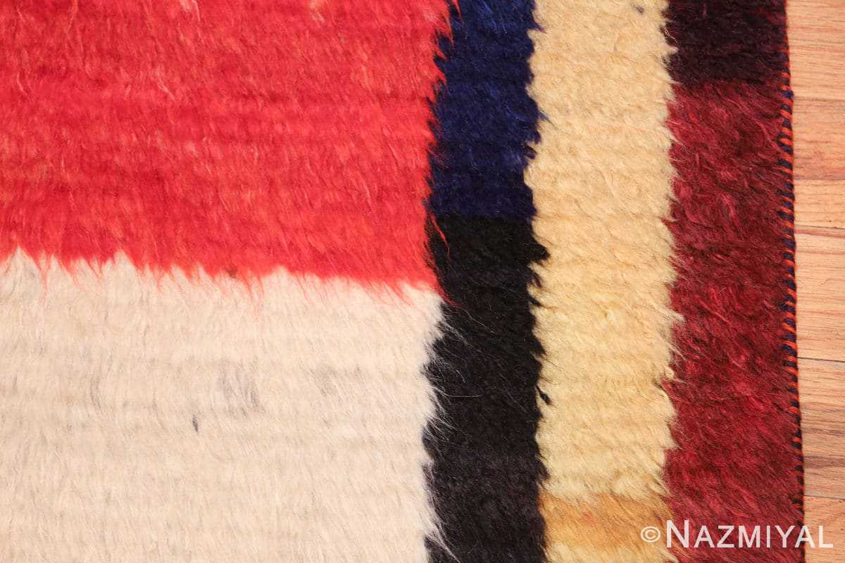 red vintage persian gabbeh rug 48775 border Nazmiyal