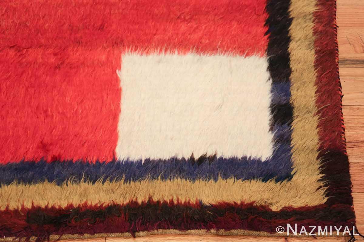 red vintage persian gabbeh rug 48775 corner Nazmiyal