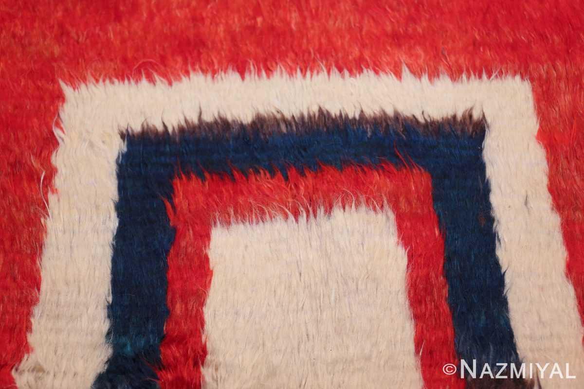 red vintage persian gabbeh rug 48775 lines Nazmiyal