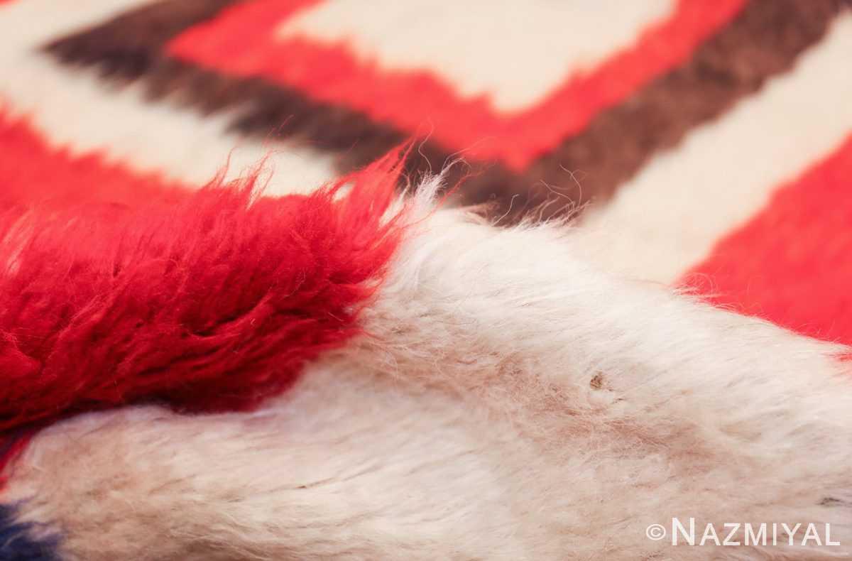 red vintage persian gabbeh rug 48775 pile Nazmiyal