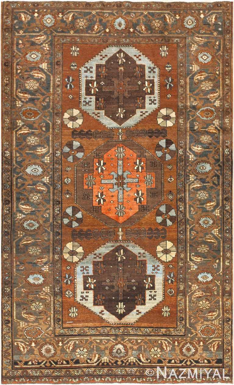 Small Antique Tribal Persian Heriz Rug 48338 Nazmiyal