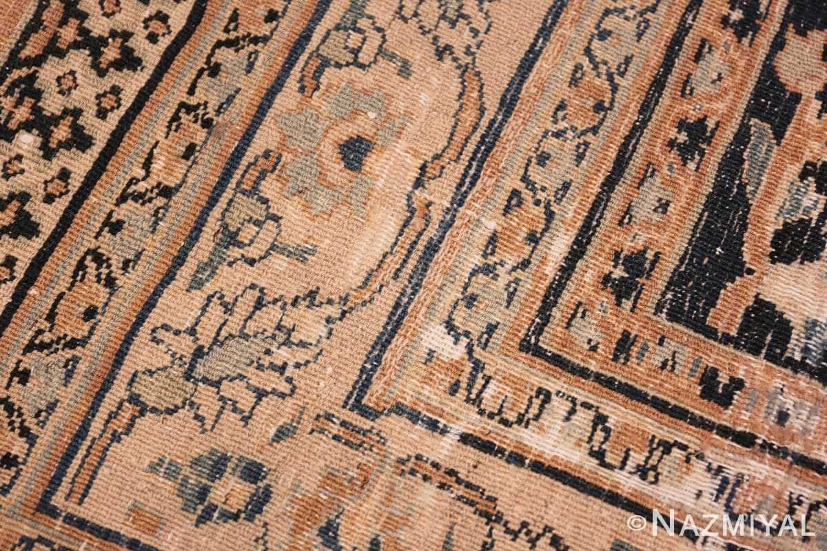 Weave detail Large Antique Persian Khorassan rug 50585 by Nazmiyal