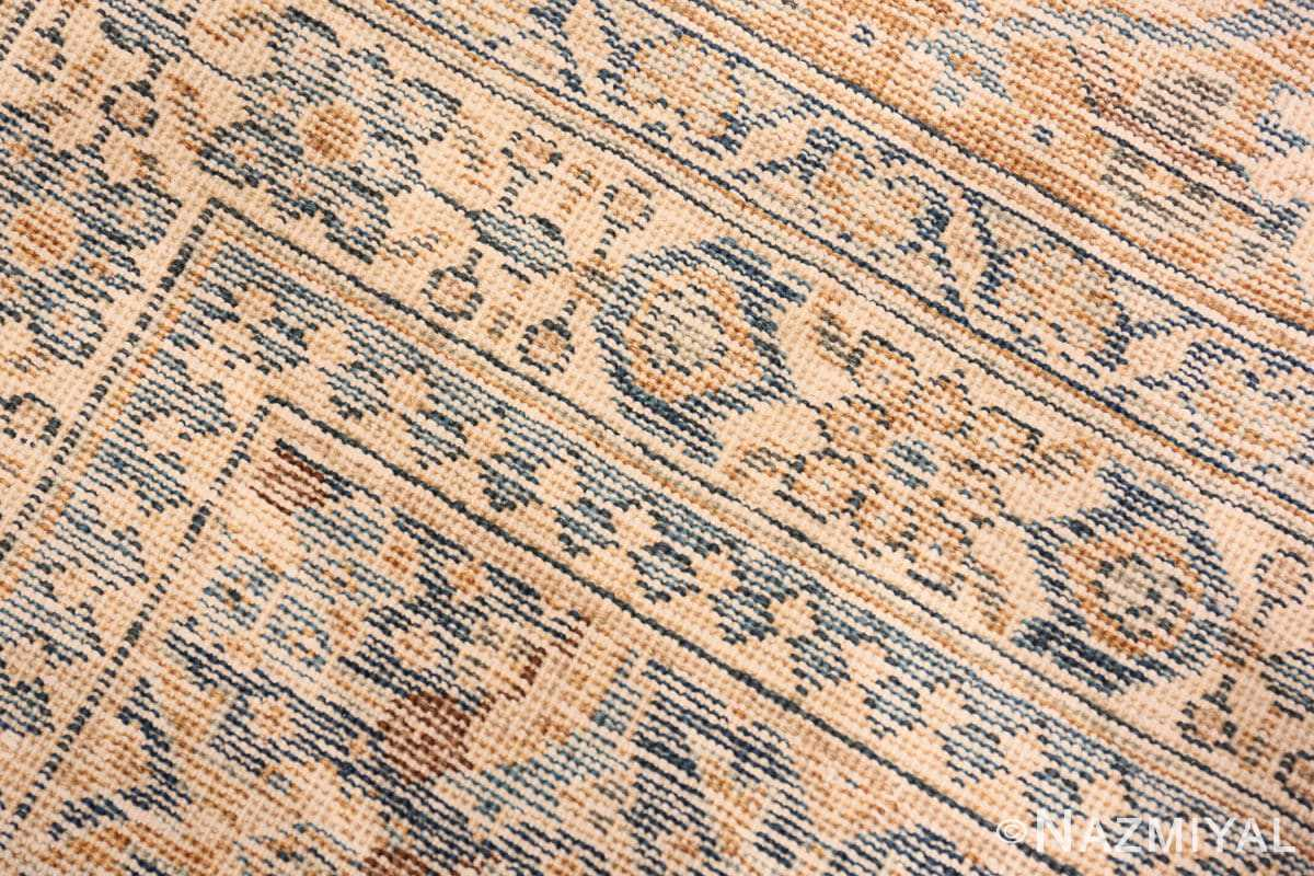 Weave detail Room size Antique Persian Tabriz rug 50580 by Nazmiyal