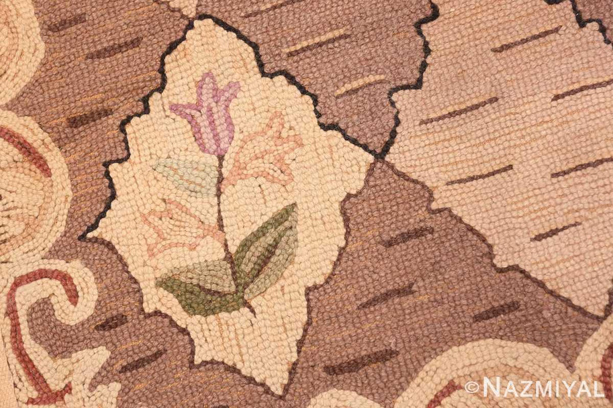 Weave detail Treillis Antique American Hooked rug 50558 by Nazmiyal