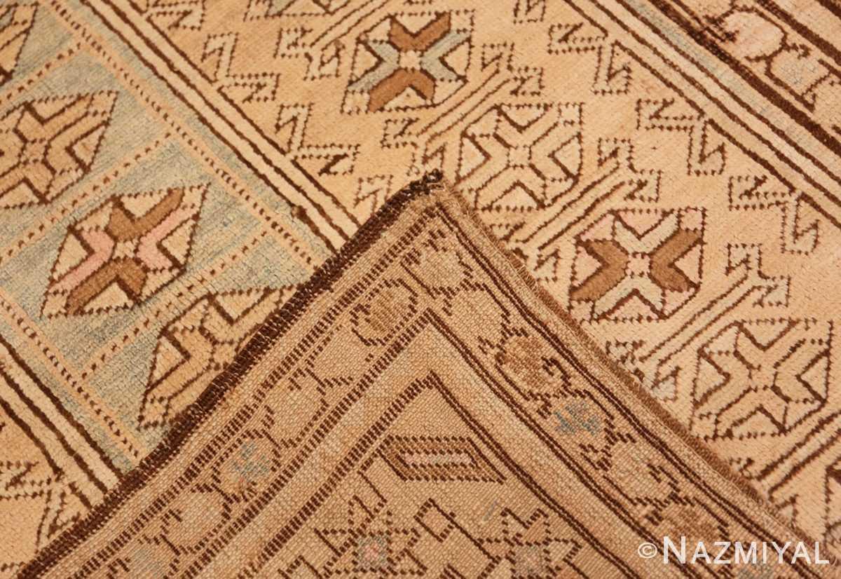 Weave detail Tribal Vintage Caucasian Kazak rug 50542 by Nazmiyal