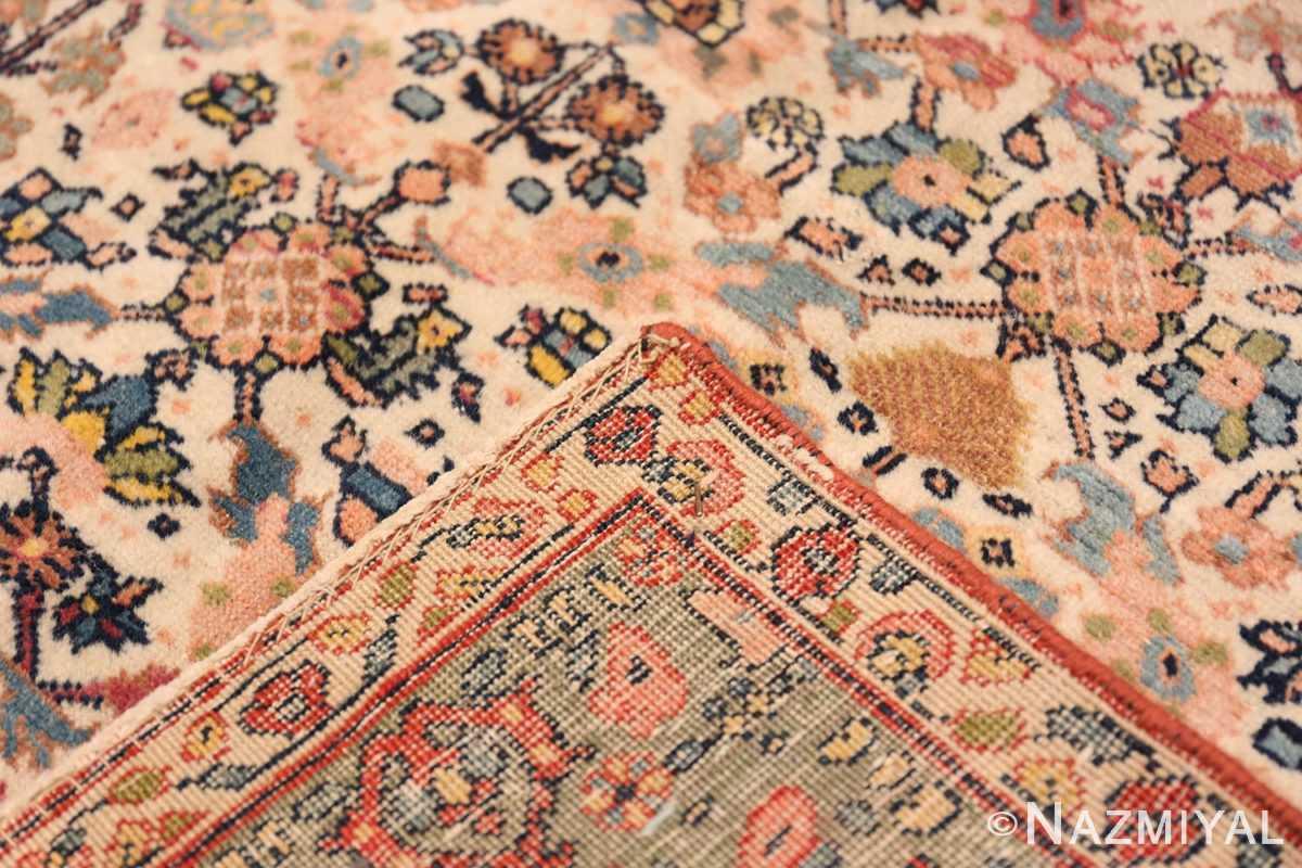 Weave Large Antique Ivory Haji Jalili Persian Tavriz rug 48729 by Nazmiyal