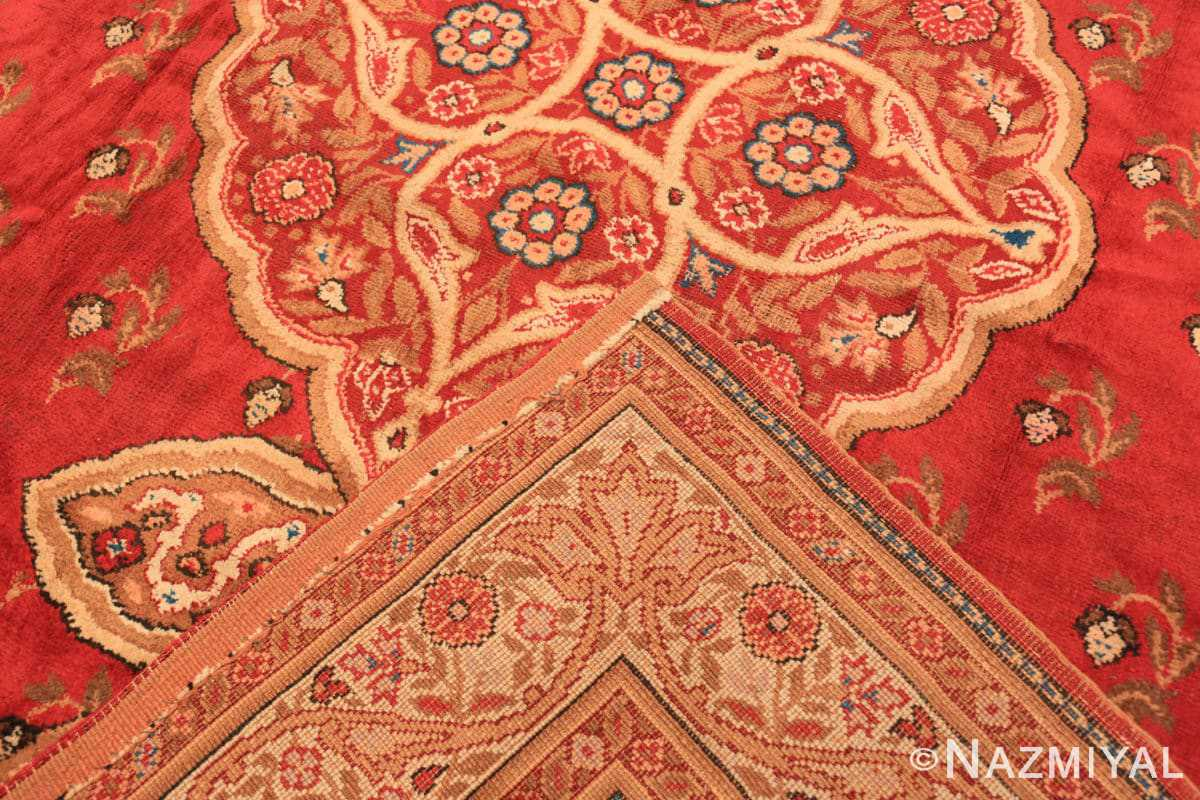 Weave Red medallion Antique Irish rug 50481 by Nazmiyal Antique Rugs in NYC
