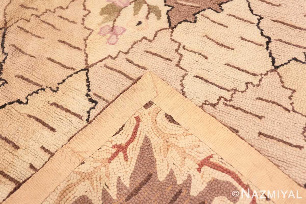 Weave Treillis Antique American Hooked rug 50558 by Nazmiyal