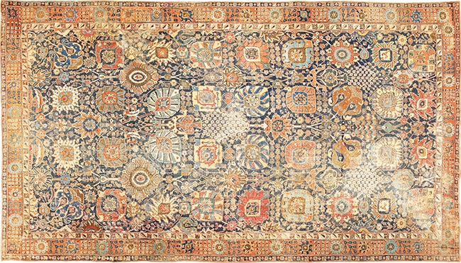 17th Century Persian Vase Kerman Carpet