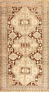 Beautiful Antique Caucasian Tribal Karabagh Rug 50494 Nazmiyal