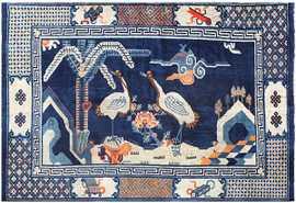 Blue Antique Chinese Carpet 48435 Detail/Large View
