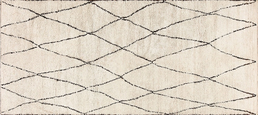Moroccan Beni Ourain Retro Carpet #47928 from Nazmiyal Rugs in NYC