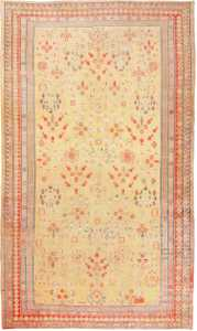 Antique Oversize Samarkand Pomegranate Design Khotan Rug 50200 nazmiyal