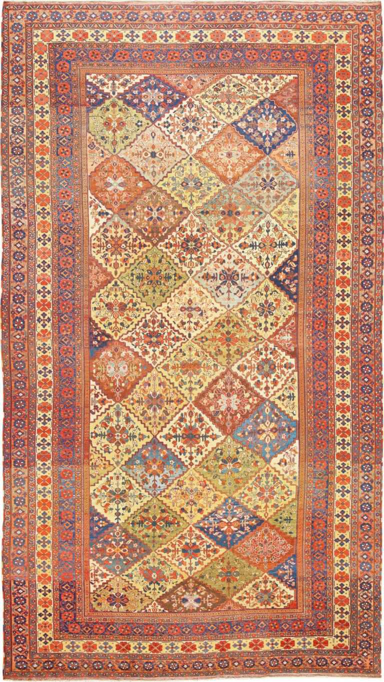 Oversize Tribal Persian Qashqai Antique Rug 50619 Nazmiyal