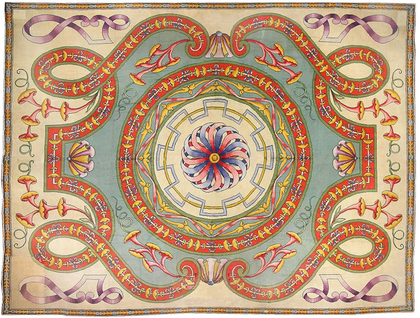 Oversized Spanish Art Deco Retro Rug #50065 by Namziyal Antique Rugs