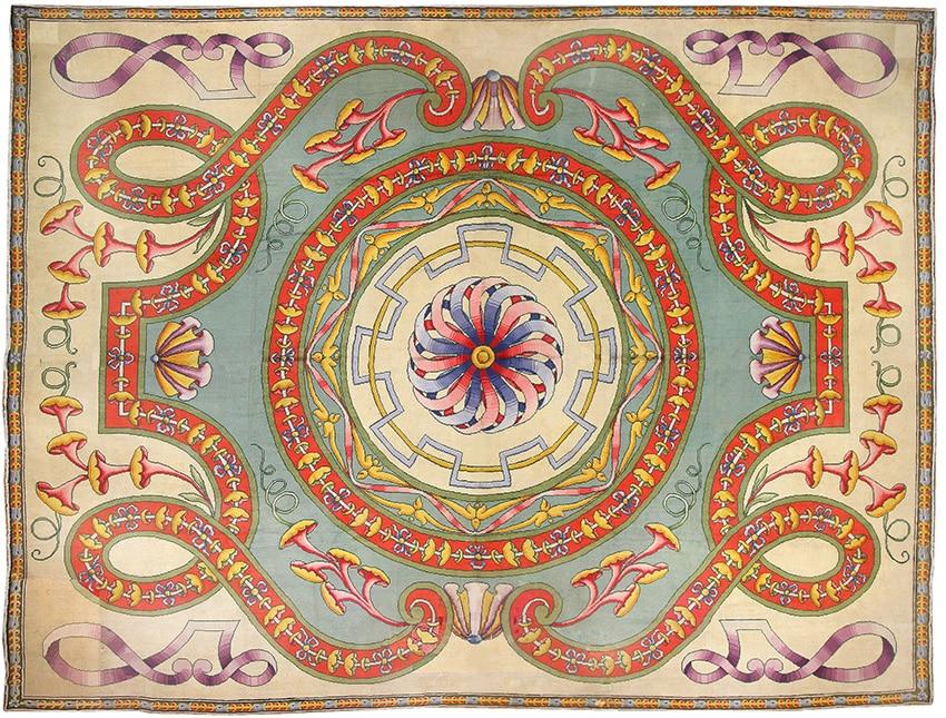 Oversized Spanish Art Deco Retro Rug #50065 by Namziyal Antique Rugs