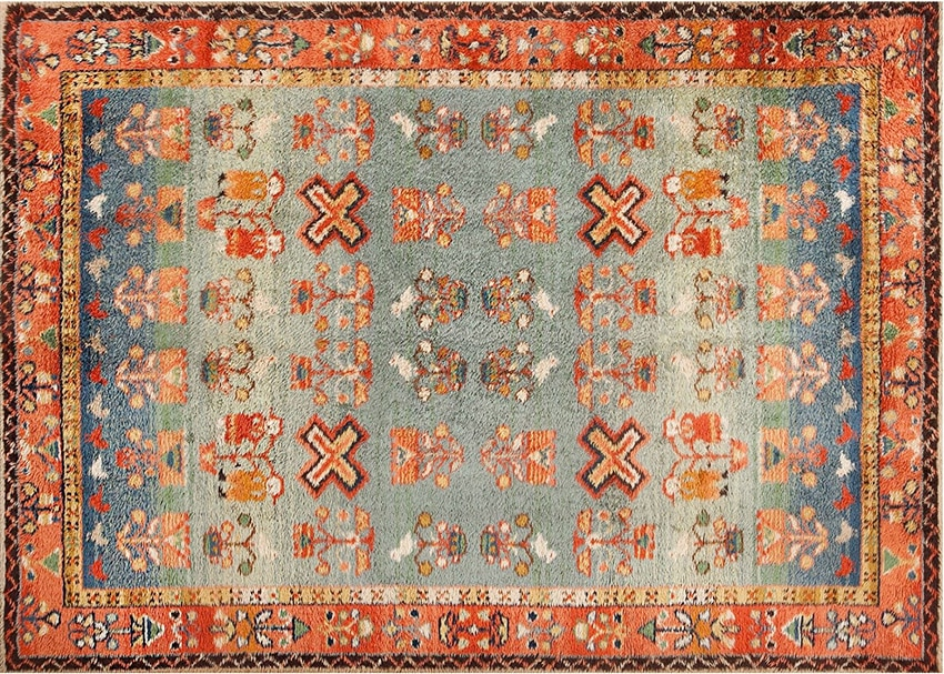 Retro German Shag Rug #48556 from Nazmiyal Rugs in NYC