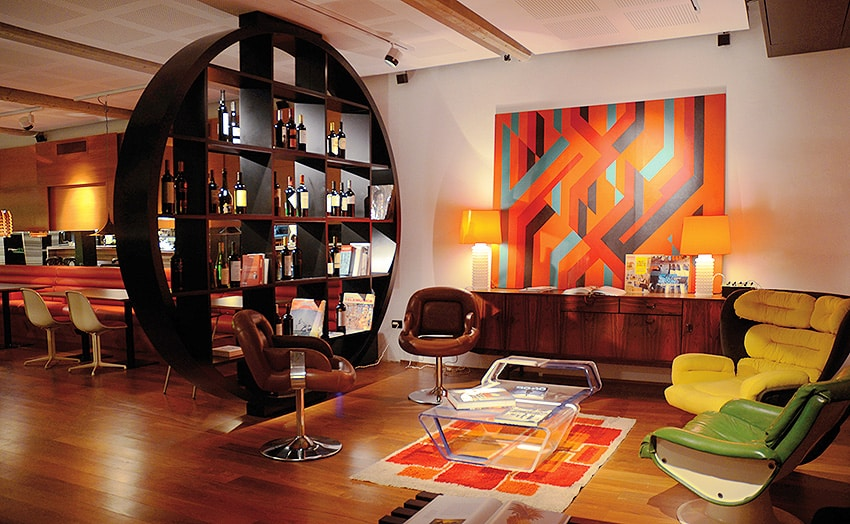 Retro Interior With Retro Rugs - Nazmiyal NYC