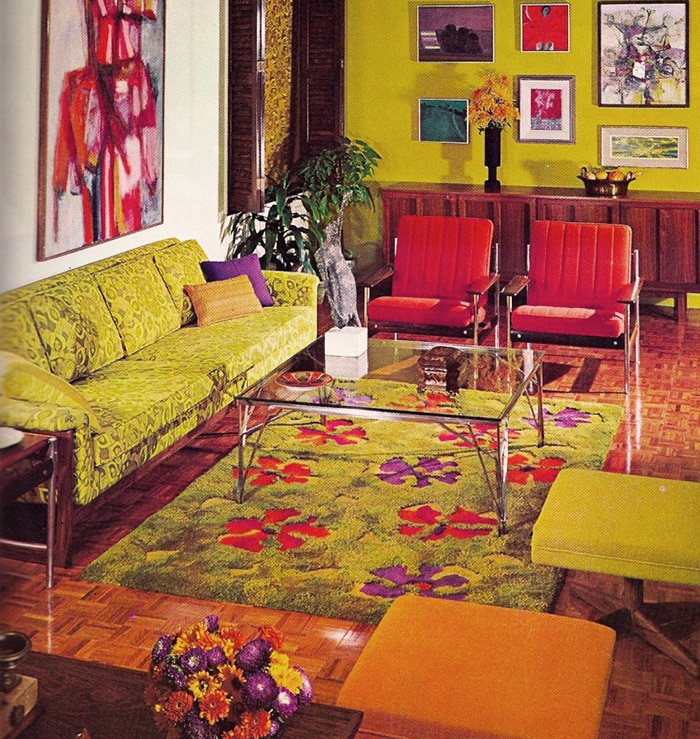 Retro Rugs in A Retro Interior - Nazmiyal Rugs