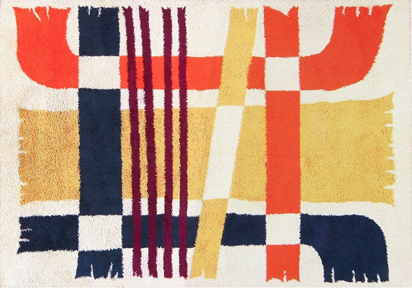 Swedish Rya Shag Retro Rugs #48085 from Nazmiyal Rugs in NYC