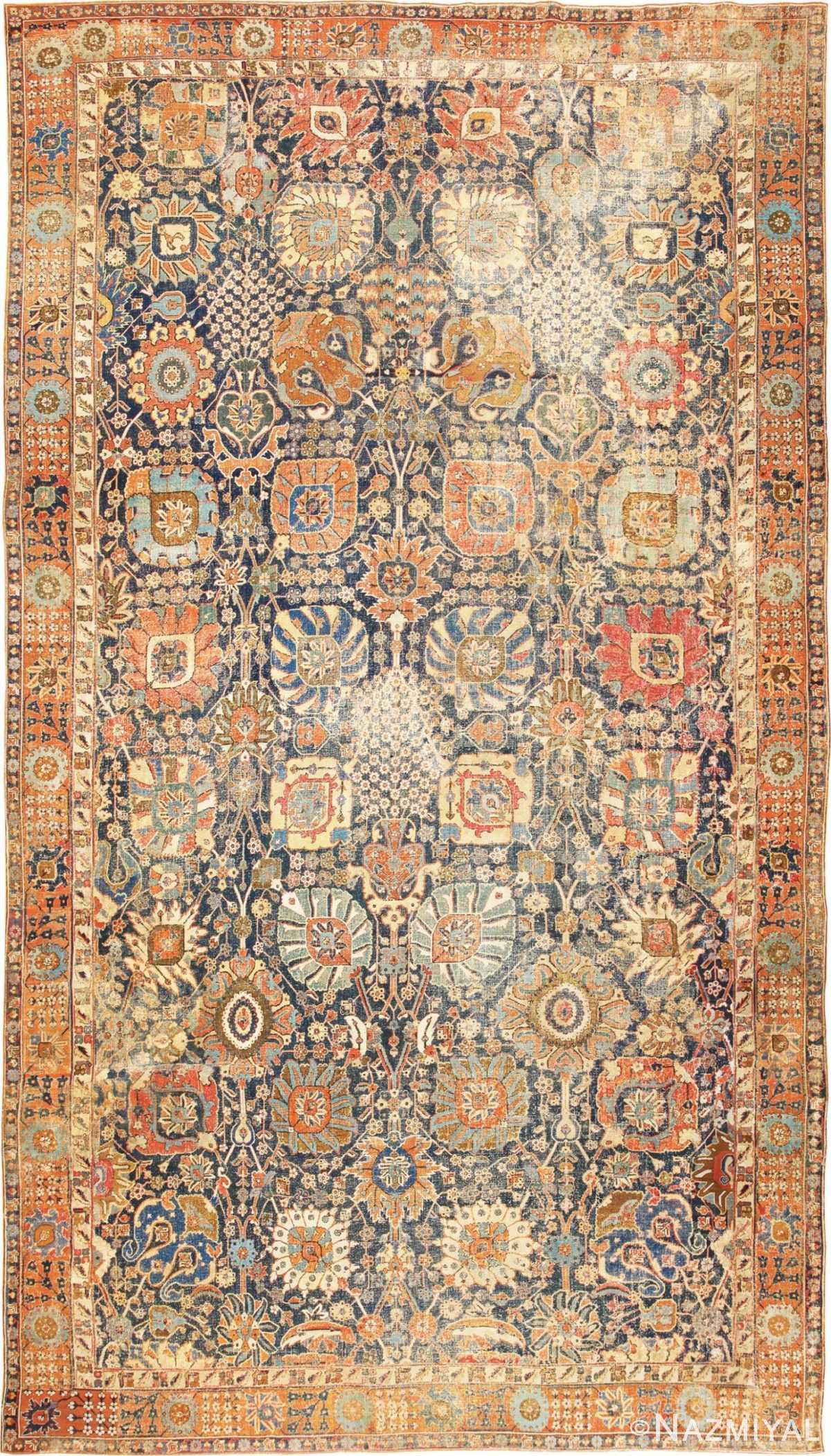 17th Century Persian Vase Kerman Carpet 45770 Nazmiyal