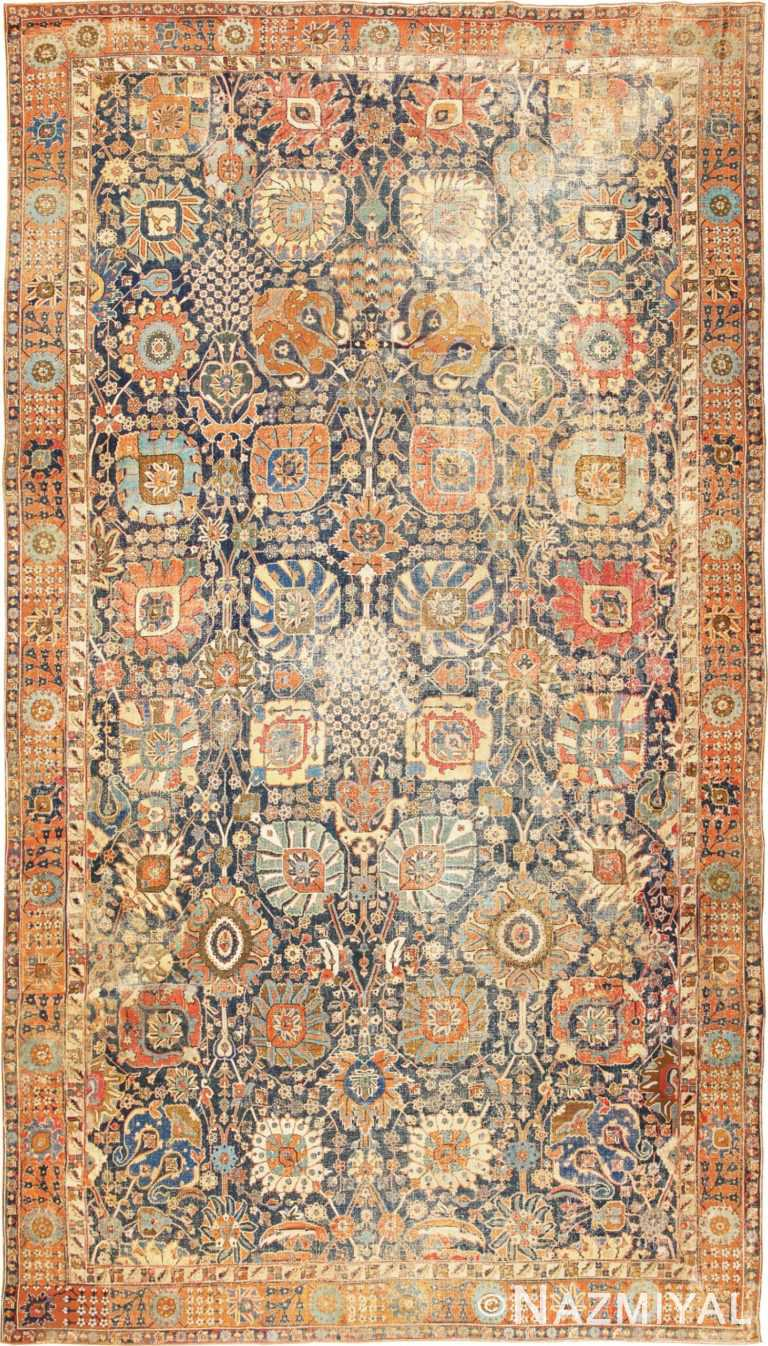 17th Century Persian Vase Kerman Carpet 45770 Nazmiyal