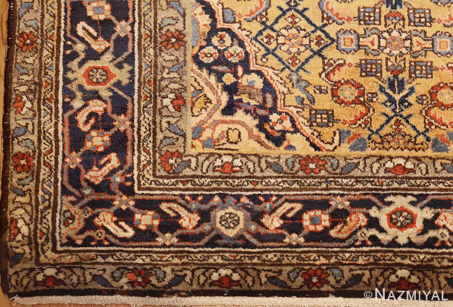 antique persian mahi fish design malayer rug 50642 corner Nazmiyal