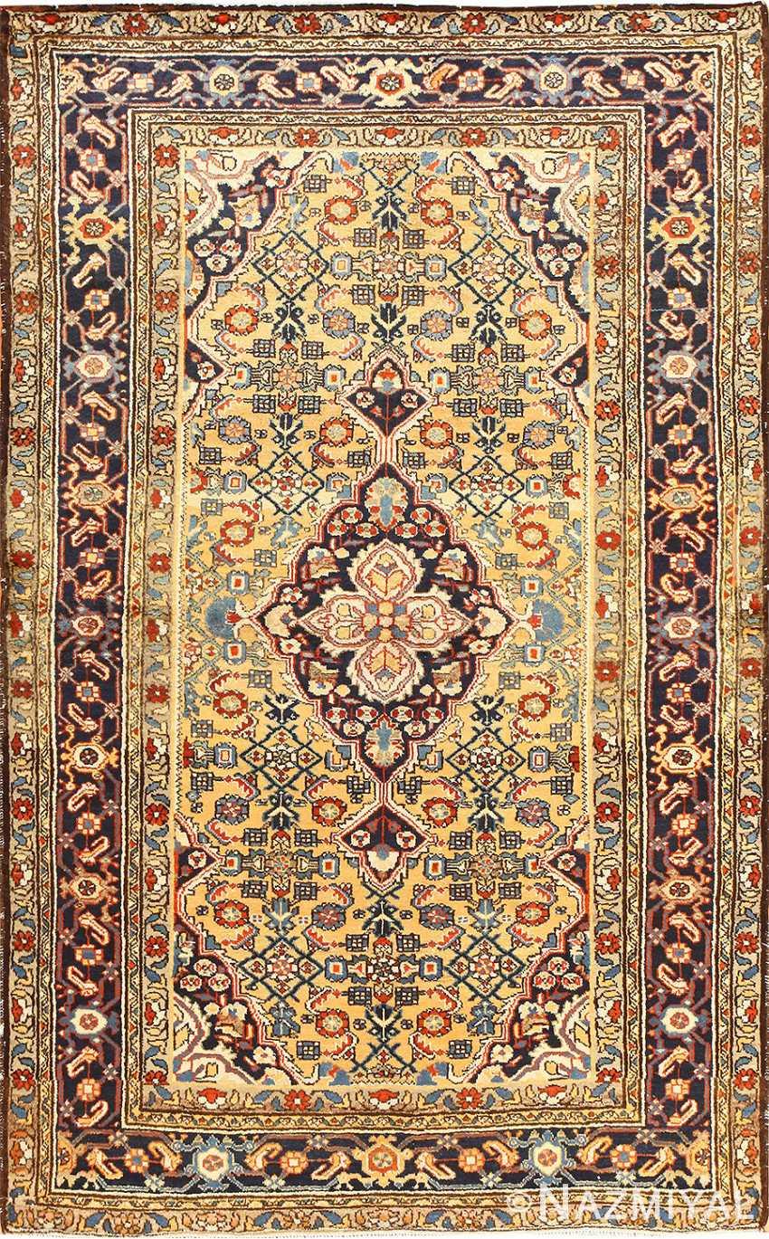 Antique Persian Mahi Fish Design Malayer Rug 50642 Nazmiyal