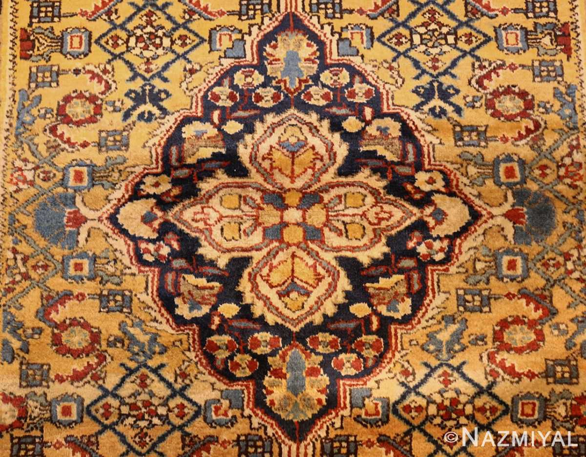 antique persian mahi fish design malayer rug 50642 medallion Nazmiyal