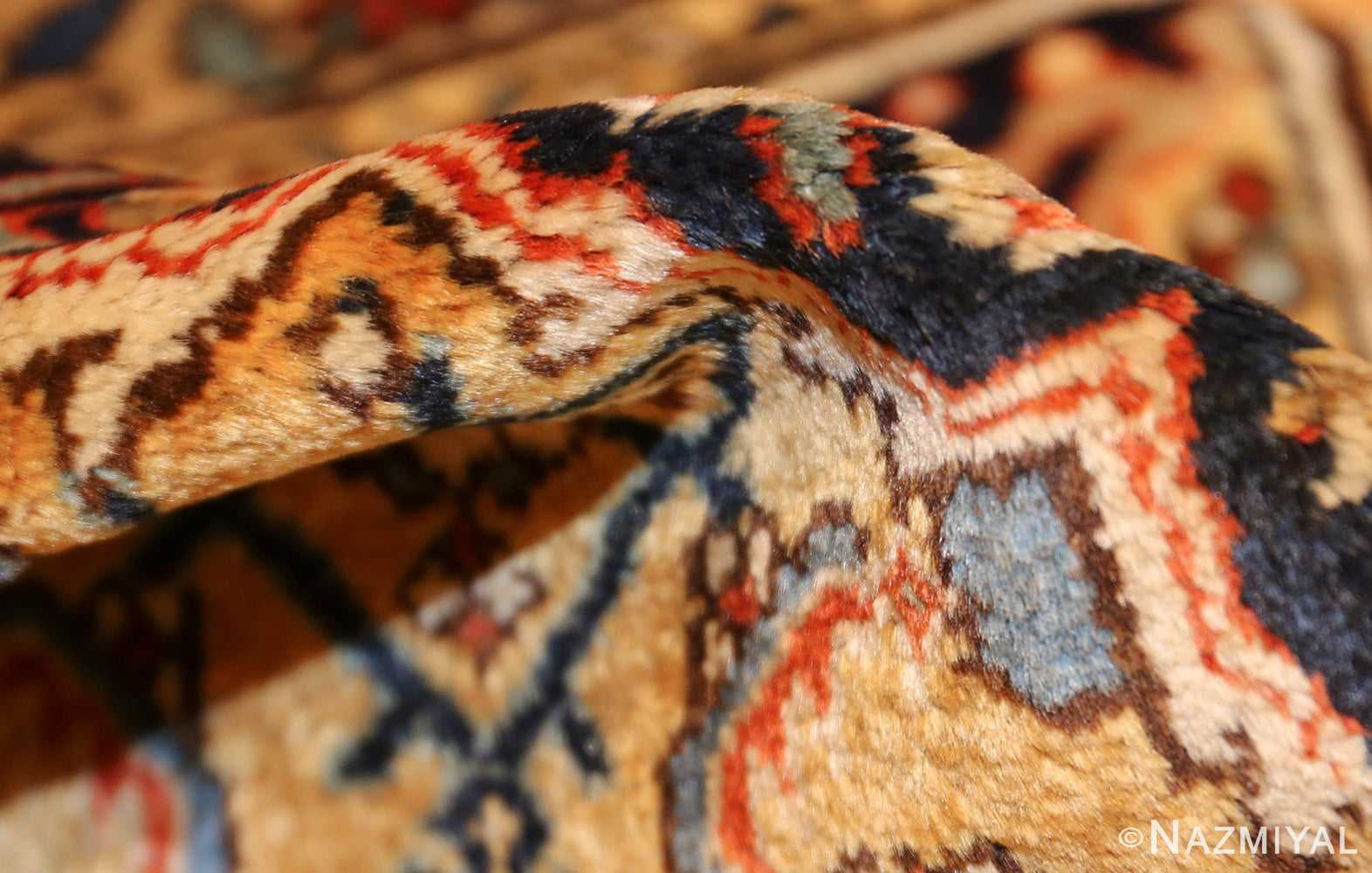 antique persian mahi fish design malayer rug 50642 pile Nazmiyal
