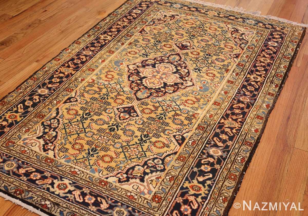 antique persian mahi fish design malayer rug 50642 side Nazmiyal
