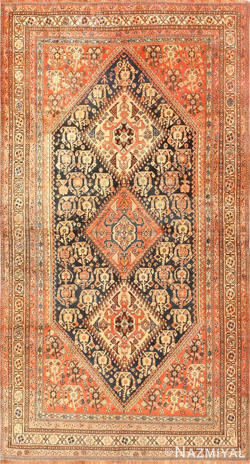 Antique Persian Tribal Qashqai Rug 50648 Nazmiyal