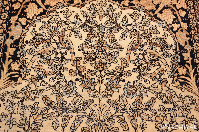 antique prayer design persian isfahan rug 50645 top Nazmiyal
