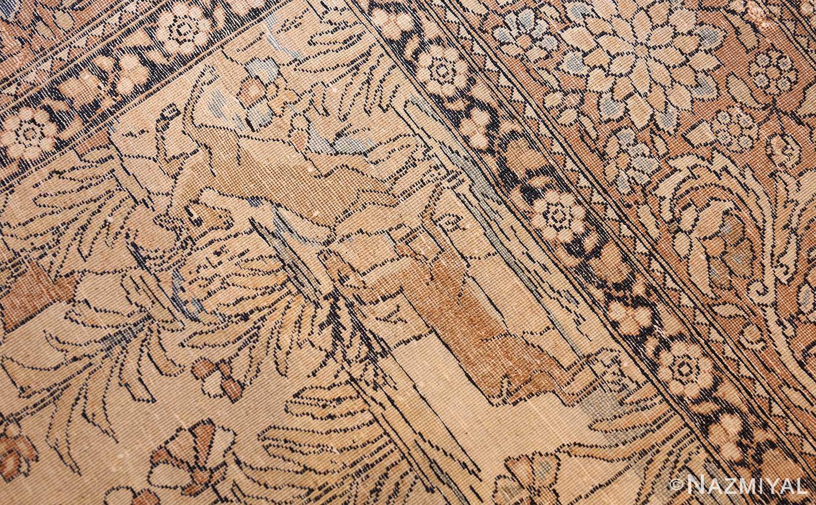 antique prayer design persian isfahan rug 50645 weave Nazmiyal