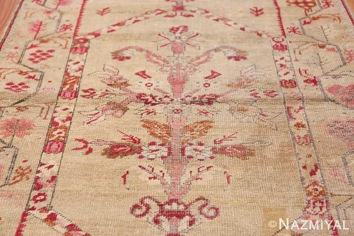Antique Shabby Chic Tribal Turkish Ghiordes Rug 50640 Central Vase Nazmiyal