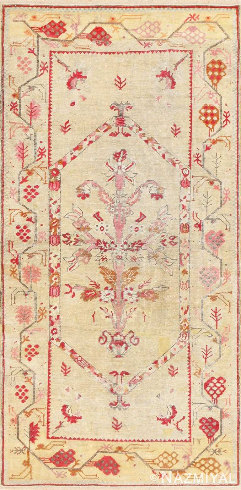 Antique Shabby Chic Tribal Turkish Ghiordes Rug 50640 Nazmiyal