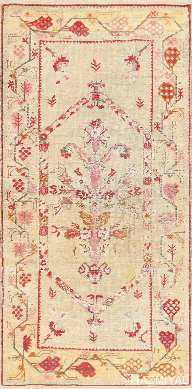 Antique Shabby Chic Tribal Turkish Ghiordes Rug 50640 Nazmiyal
