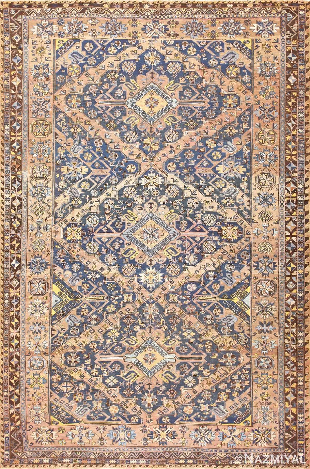 Antique Tribal Caucasian Soumak Carpet 50087 Nazmiyal
