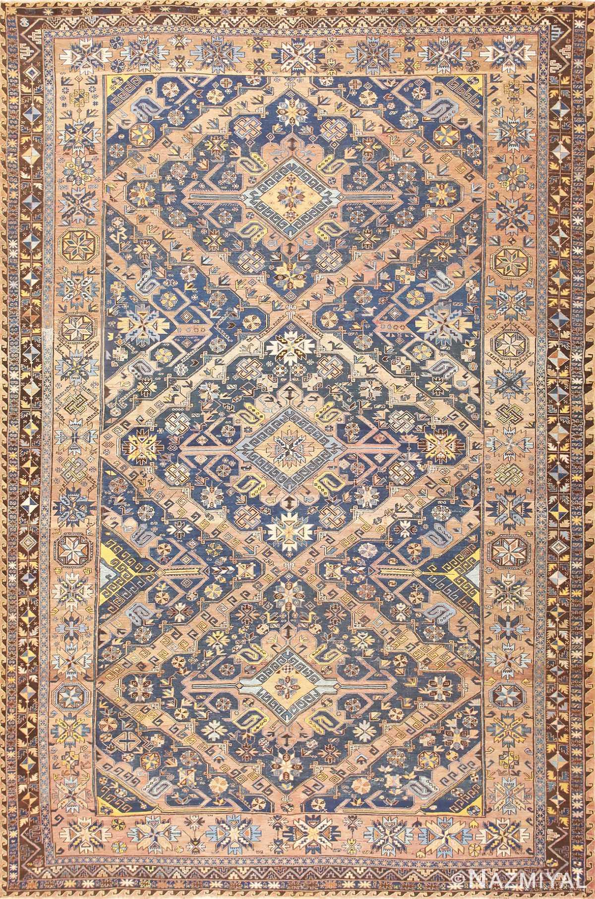 Tribal Caucasian Soumak Carpet 50087