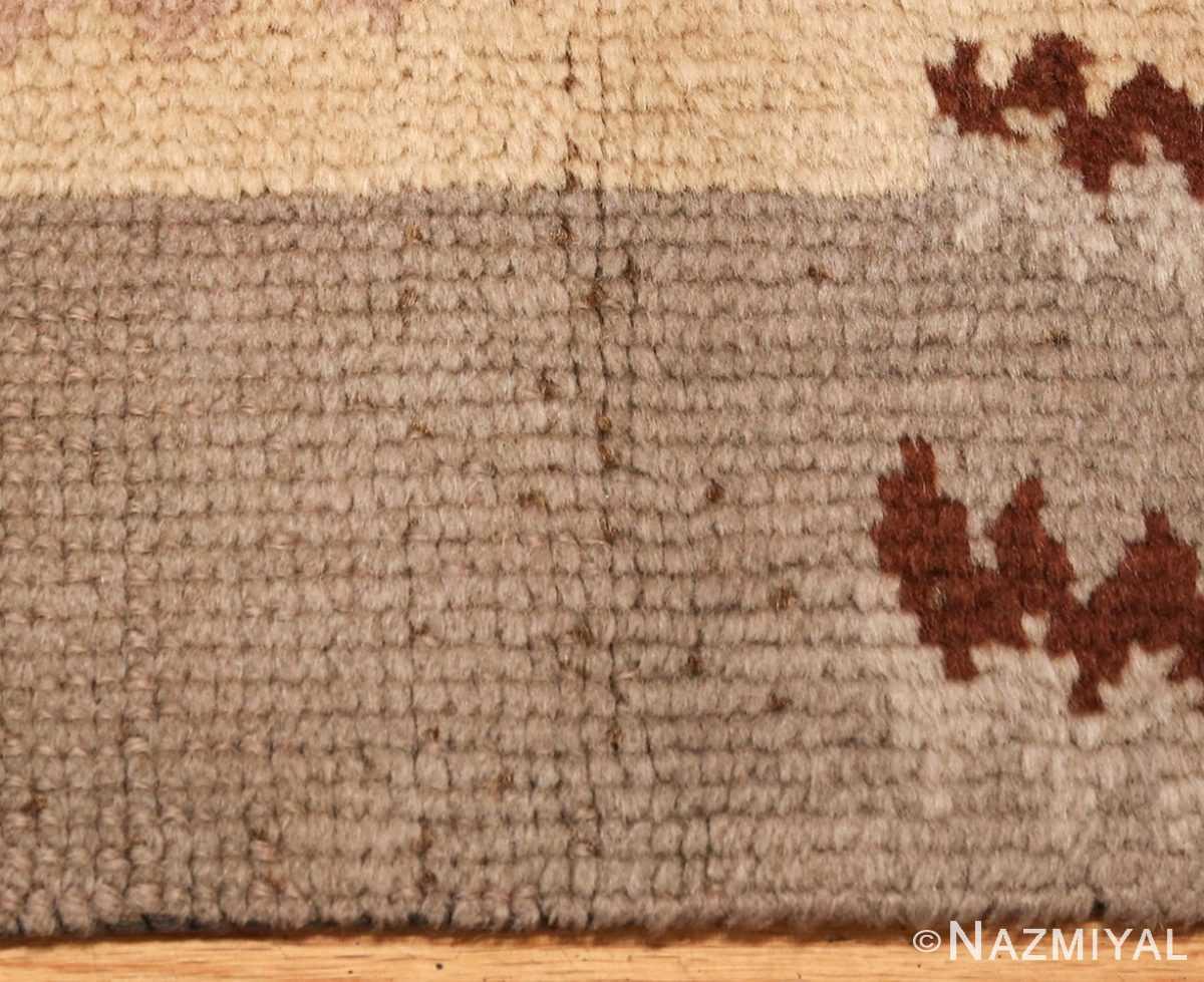 beautiful antique french art deco carpet 50551 brown Nazmiyal