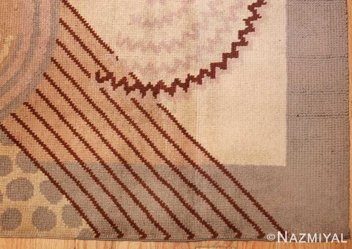 beautiful antique french art deco carpet 50551 corner Nazmiyal