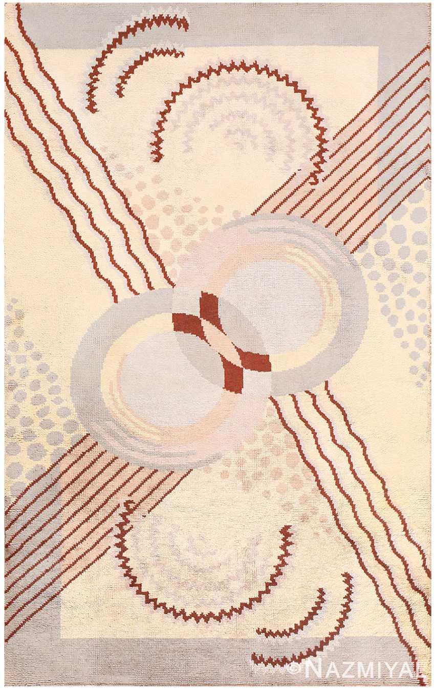 Beautiful Antique French Art Deco Carpet 50551 Nazmiyal