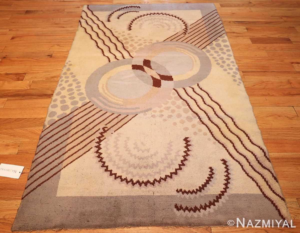beautiful antique french art deco carpet 50551 full Nazmiyal