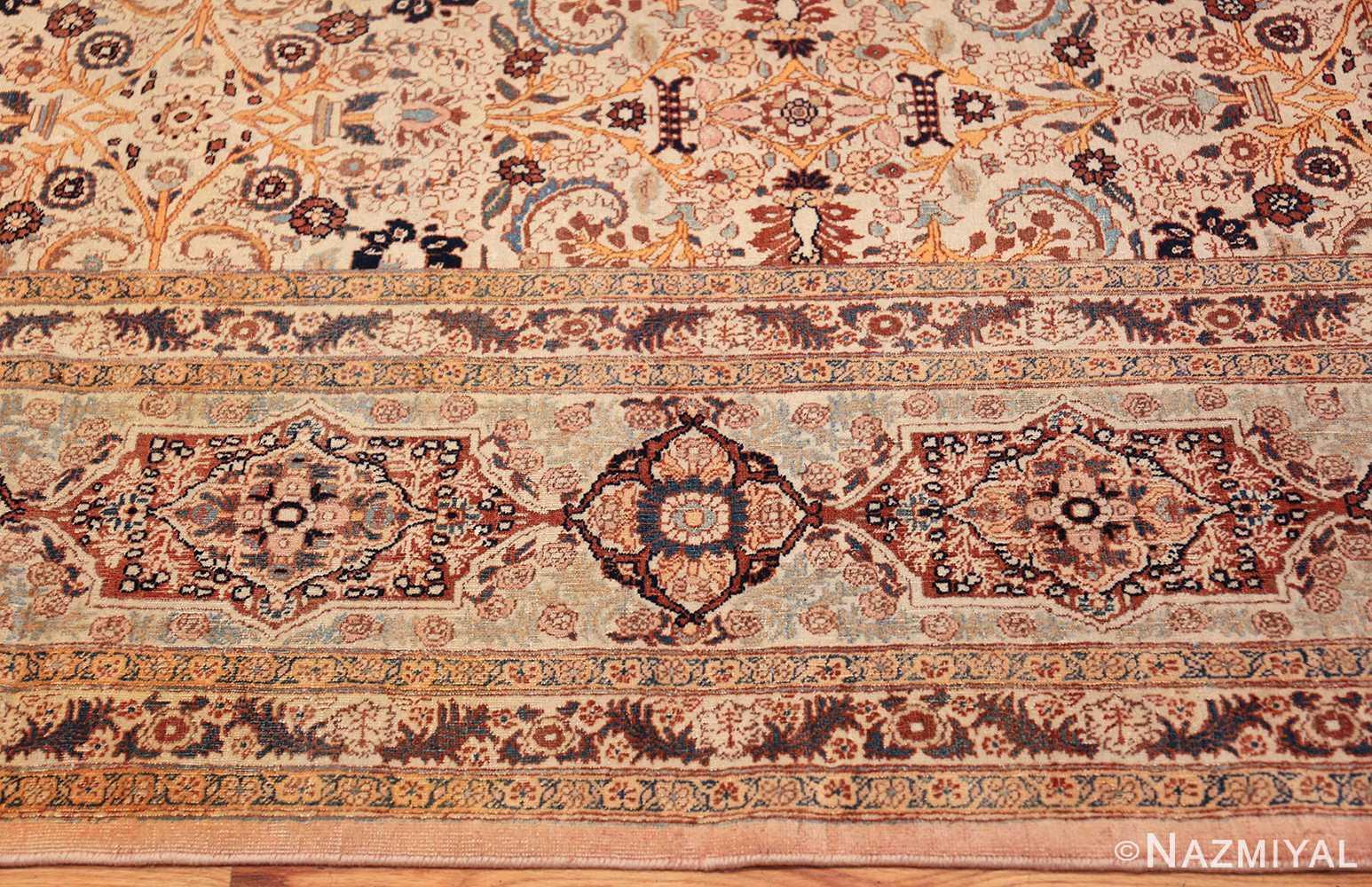 beautiful antique persian haji jalili tabriz rug 50588 border Nazmiyal