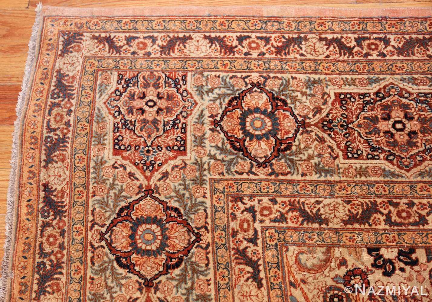 beautiful antique persian haji jalili tabriz rug 50588 corner Nazmiyal